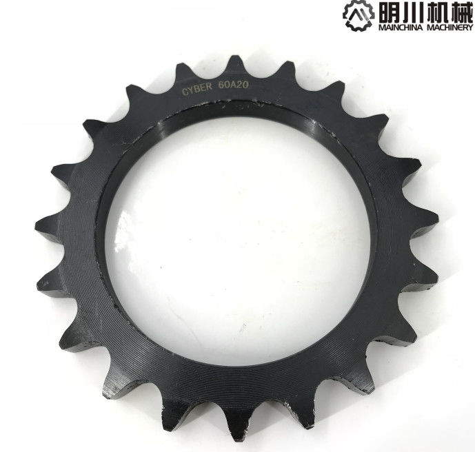 Black color wheel with sprocket , 45C chain wheel sprocket Simplex Row